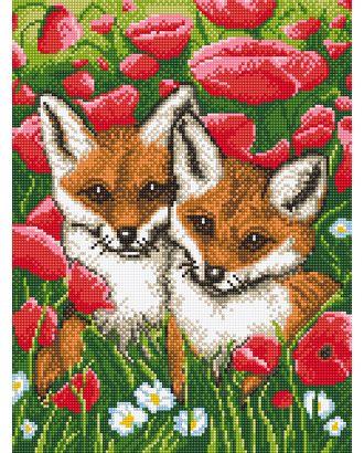 Алмазная мозаика Ah5311 Рыжие малыши 30х40 арт. МГ-13898-1-МГ0742203