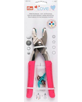 """390902 PRYM """"Prym Love"""" - Щипцы VARIO с насадками для пробивания отверстий Ø 3 и 4мм, длина 19,5см, сталь/пластик, ярко-розовый арт. МГ-67033-1-МГ0742432"""