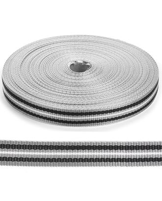 Стропа-25 (лента ременная) рис.9556 цв.серый-черный-белый арт. МГ-81416-1-МГ0745869