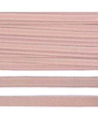 Резинка бельевая (с силиконом) 61007 10мм цв.S185 серебристый пион уп.10м арт. МГ-81501-1-МГ0746815