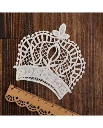 Кружевная аппликация KRUZHEVO Корона 9х9,5см, уп.10шт. арт. МГ-81522-1-МГ0747637