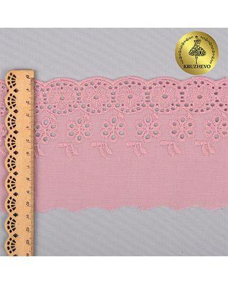 Шитье KRUZHEVO (2505) ш.10см цв.377 розовая пудра, 100% хлопок арт. МГ-81527-1-МГ0747642