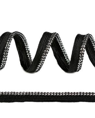 Кант декоративный ш.1,2см цв.черный/серебро арт. МГ-81586-1-МГ0748770