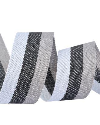 Тесьма киперная металлизированная 28мм 90424 цв.1510 серый, темно-серый, светло-серый уп.20м арт. МГ-14040-1-МГ0749061