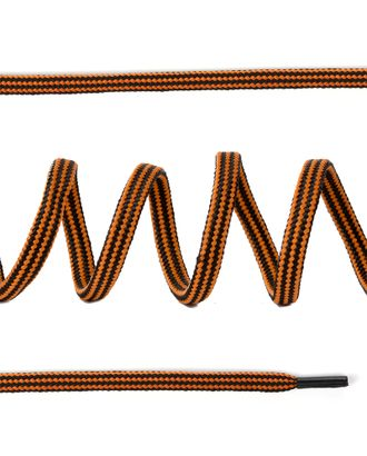 Шнурки круглые вязальные д.0,4см без наполнителя дл.100см цв.черно-горчичный, продольная полоска (25 компл) арт. МГ-81666-1-МГ0749663