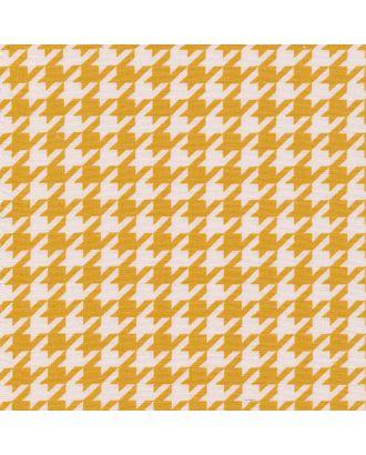Бабушкин Сундучок 140±5 г/м² 100% Хлопок цв.БС-13 гусиная лапка ярко-желтый уп.50х55 см арт. МГ-92149-1-МГ0755417