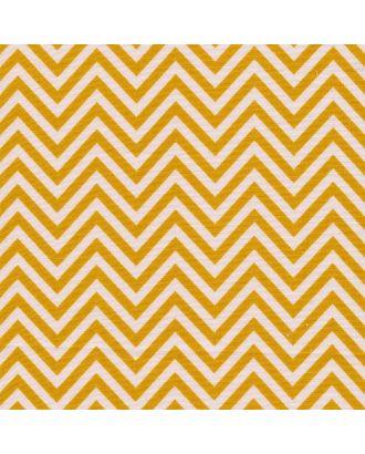 Бабушкин Сундучок 140±5 г/м² 100% Хлопок цв.БС-14 зигзаг ярко-желтый уп.50х55 см арт. МГ-92395-1-МГ0755418