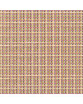 Бабушкин Сундучок 140±5 г/м² 100% Хлопок цв.БС-15 клетка яр.желтый/бирюзовый уп.50х55 см арт. МГ-91960-1-МГ0755419