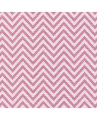 Бабушкин Сундучок 140±5 г/м² 100% Хлопок цв.БС-26 зигзаг ярко-розовый уп.50х55 см арт. МГ-92577-1-МГ0755430