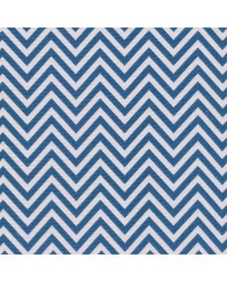 Бабушкин Сундучок 140±5 г/м² 100% Хлопок цв.БС-32 зигзаг ярко-синий уп.50х55 см арт. МГ-91185-1-МГ0755436