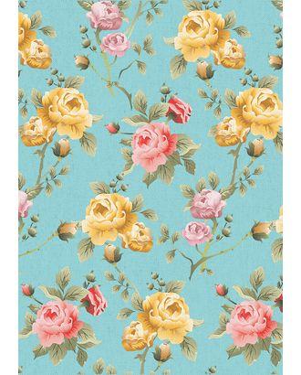 Версальские Сады 146±5 г/м² 100% Хлопок цв.ВС-14 голубой уп.50х55 см арт. МГ-91254-1-МГ0755472