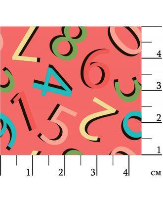 Грамотейка 146 г/м² 100% Хлопок цв.ГР-07 цифры красный уп.50х55 см арт. МГ-92323-1-МГ0755533