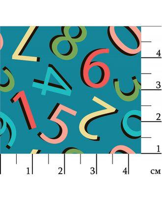 Грамотейка 146 г/м² 100% Хлопок цв.ГР-08 цифры синий уп.50х55 см арт. МГ-91628-1-МГ0755534