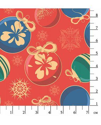 Новогодние Чудеса 146±5 г/м² 100% Хлопок цв.НЧ-06 красный под золото уп.50х55 см арт. МГ-90631-1-МГ0756542