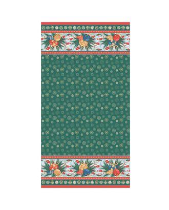 Новогодние Чудеса Панель 146±5 г/м² 100% Хлопок цв.НЧ-04 зеленый уп.60х110 см арт. МГ-91825-1-МГ0756556