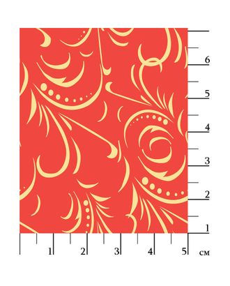 Русские Традиции 110 г/м² 100% Хлопок цв.РТ-17 красный уп.50х55 см арт. МГ-91289-1-МГ0756566