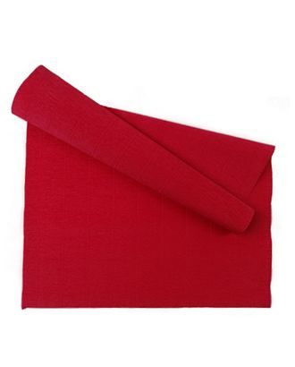 Бумага гофрированная Италия 50см х 2,5м 140г/м² цв.989 т.красный арт. МГ-81959-1-МГ0760938