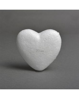 Сердце объемное из пенопласта 70мм гладкое арт. МГ-82116-1-МГ0761384