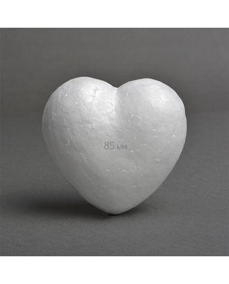 Сердце объемное из пенопласта 85мм гладкое арт. МГ-82117-1-МГ0761385