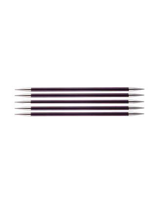 Спицы чулочные Knit Pro 47013 Zing 6мм/15см, алюминий, фиолетовый бархат, 5шт арт. МГ-82360-1-МГ0761856