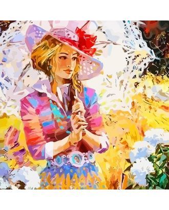 """Набор """"Колор Кит"""" картина по номерам Дама в саду 30х30 арт. МГ-83566-1-МГ0767419"""