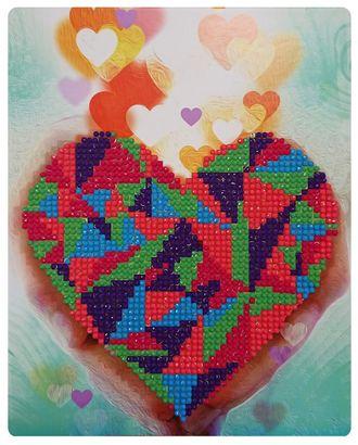 "Набор ""Колор Кит"" картина алмазная Сердце в Ваших руках 17х21 арт. МГ-83705-1-МГ0767574"
