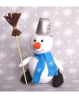 """Набор для изготовления текстильной игрушки из фетра """"Снеговик"""" 18,5см арт. МГ-83915-1-МГ0768660"""