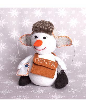 """Набор для изготовления текстильной игрушки из фетра """"Снегопочта"""" 16,5см арт. МГ-83916-1-МГ0768661"""
