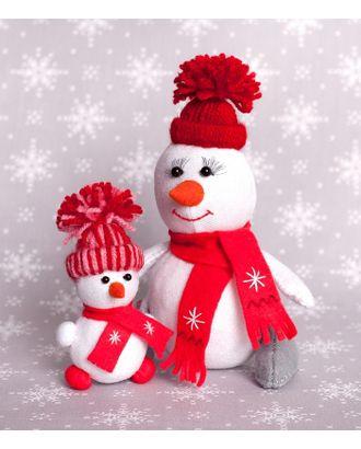 """Набор для изготовления текстильной игрушки из фетра """"Снегомама и Снегодочка"""" 16,5см, 10,5см арт. МГ-83917-1-МГ0768662"""