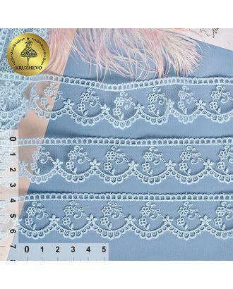 Кружево на сетке KRUZHEVO ш.3см цв.267 голубой арт. МГ-91361-1-МГ0775816