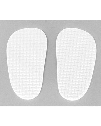Подошва для изготовления обуви толщ.4мм 4х7см 5 пар белый арт. МГ-89277-1-МГ0778037