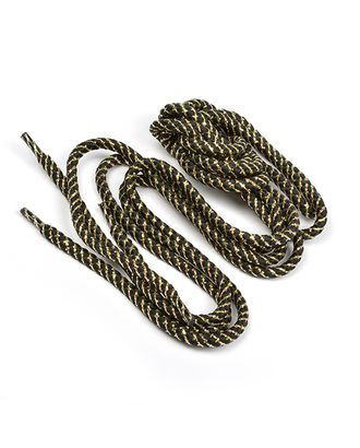 Шнурки круглые д.0,6см 04с2207 дл.100см, компл.2шт, цв.черный с золотом арт. МГ-89798-1-МГ0780048