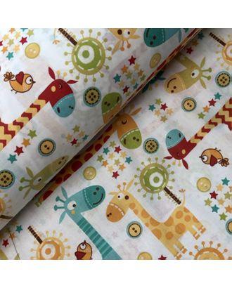 Ткань хлопок Жирафики-1842, 125г/м², 100% хлопок, цв.многоцветный уп.50х50 см арт. МГ-89961-1-МГ0781493