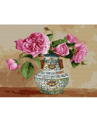 Картина по номерам с цветной схемой на холсте Molly Бузин. Настроение (24 цвета) 30х40 см арт. МГ-90273-1-МГ0783044