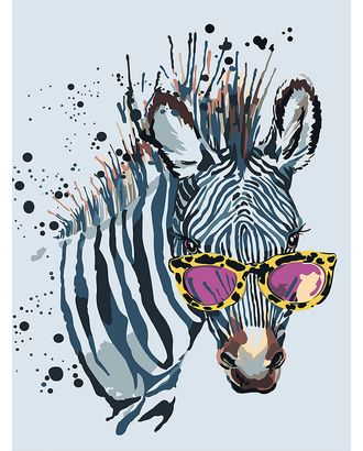 Картины по номерам Зебра в очках ME1114 30х40 тм Цветной арт. МГ-90312-1-МГ0783197