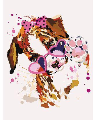Картины по номерам Щенок в розовых очках ME1117 30х40 тм Цветной арт. МГ-90315-1-МГ0783200