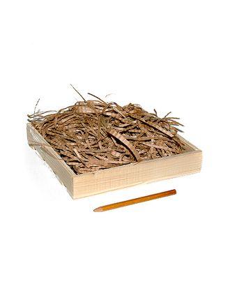 Коробка деревянная 100 квадрат + наполнитель + шнур (20х20х3см) арт. МГ-91715-1-МГ0788217