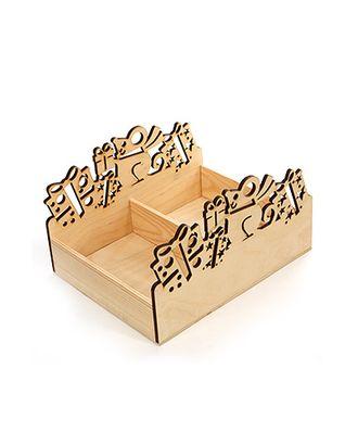 Коробка деревянная 654/701-93 резная- мышь + 4 подарка натур. (30х23х6(17)см) арт. МГ-90846-1-МГ0788252