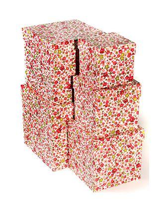 Коробка карт. 051/365 наб. из 5 кубов мал.- цветочные конфетти (9x9x9см-17x17x17см) арт. МГ-91044-1-МГ0788299