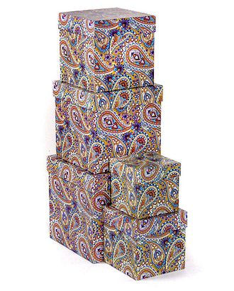 Коробка карт. 051/657 наб. из 5 кубов мал.- персидский узор (9x9x9см-17x17x17см) арт. МГ-90717-1-МГ0788303