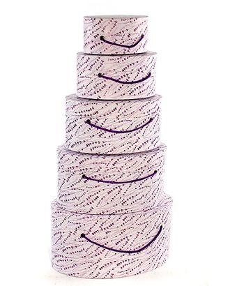 Коробка карт. 059/372 наб. из 5 овалов- лавандовое поле (15х10х7см-29х20х14см) арт. МГ-90653-1-МГ0788364