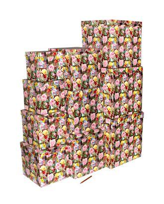 Коробка карт. 102/319 наб. из 10 кубов великолепие пионов (16x16x16 - 34x34x34) арт. МГ-90718-1-МГ0788368