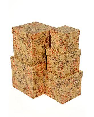 Коробка карт. крафт 051/675 наб. из 5 кубов мал.- паспортный контроль (9x9x9см-17x17x17см) арт. МГ-90792-1-МГ0789361