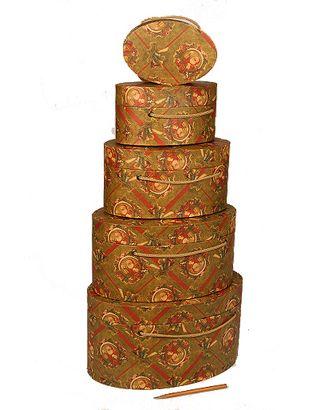 Коробка карт. крафт 059/X217-60 наб. из 5 овал. нов.год подарки Деда Мороза (15х10х7см-29х20х14см) арт. МГ-91423-1-МГ0789622