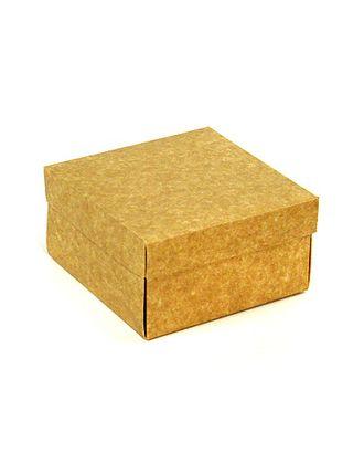 Коробка крафт бьянко 136/00 квадрат крышка+дно (15х15х8см) арт. МГ-90938-1-МГ0789653