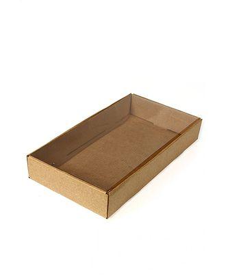 Коробка микрогофра 021/93 прямоуг. с прозр. крышкой (26х14х4см) арт. МГ-91068-1-МГ0789696