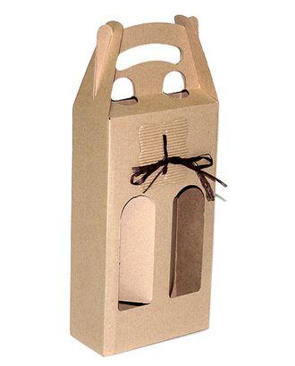 Коробка микрогофра 031/93 с декором под две бутылки (16х29(39)х7см) арт. МГ-90489-1-МГ0789698