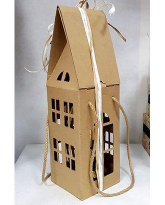 Коробка микрогофра 362/93 домик двухэтажный с ручками (11х11х37см) арт. МГ-90996-1-МГ0789706