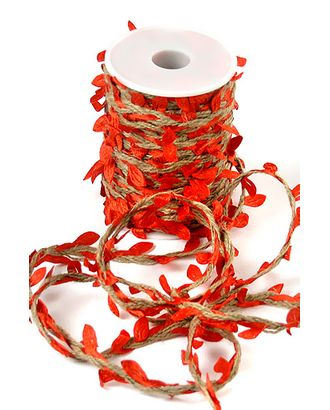 Шнур декор. 30/01-20 шнур с красными листьями (25м) арт. МГ-91791-1-МГ0791168