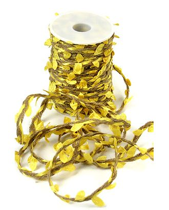 Шнур декор. 30/01-30 шнур с желтыми листьями (25м) арт. МГ-93516-1-МГ0791169